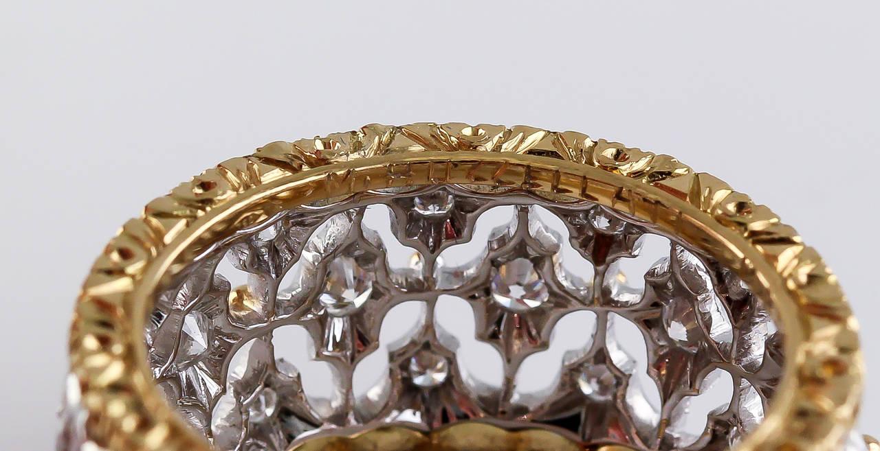 Women's M. Buccellati Diamond Gold Band Ring For Sale