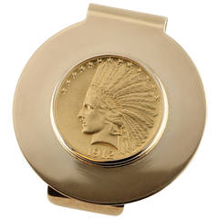 Tiffany & Co. Indian Head Liberty Coin Gold Money Clip