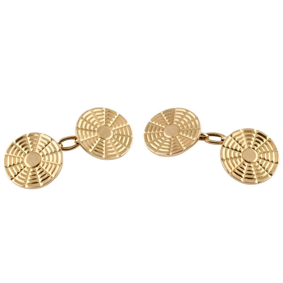 BOUCHERON Paris Estate Gold Cufflinks