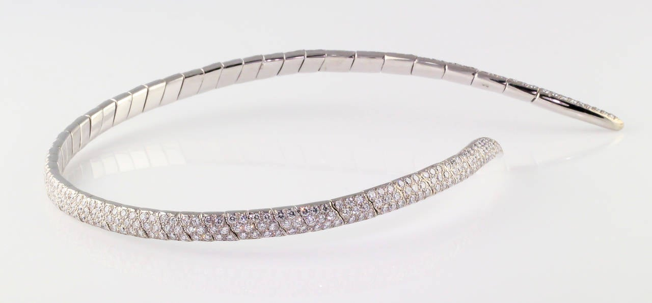 Women's Boucheron Diamond and White Gold Necklace For Sale