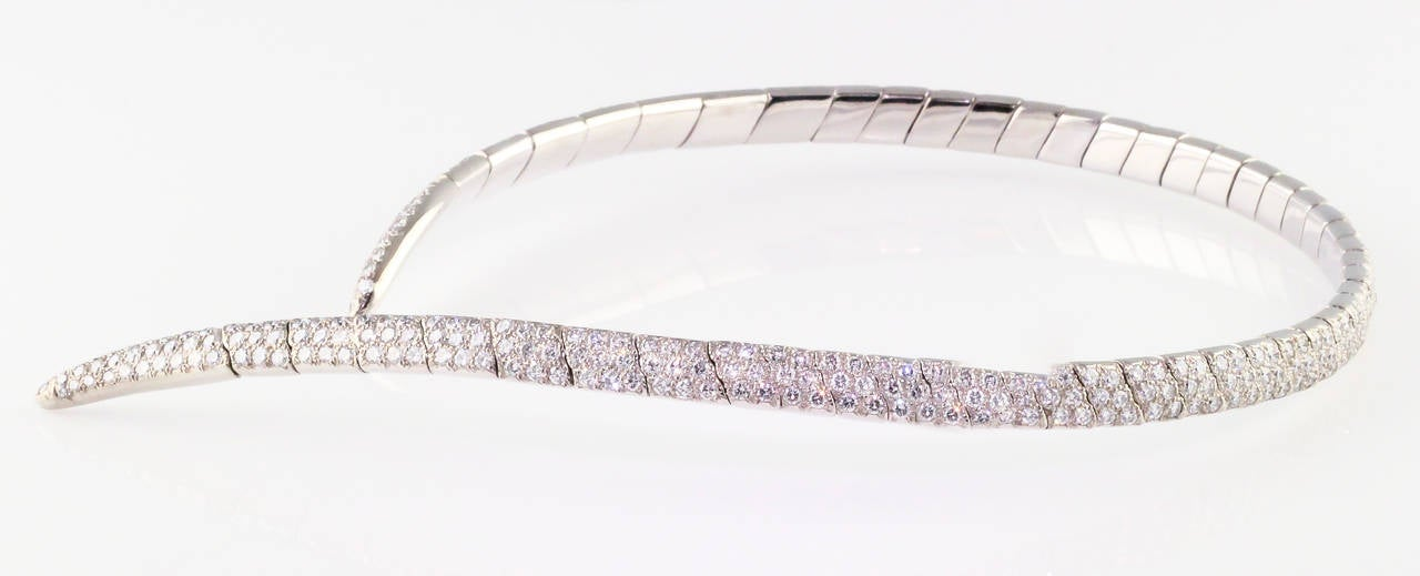 Boucheron Diamond and White Gold Necklace For Sale 1