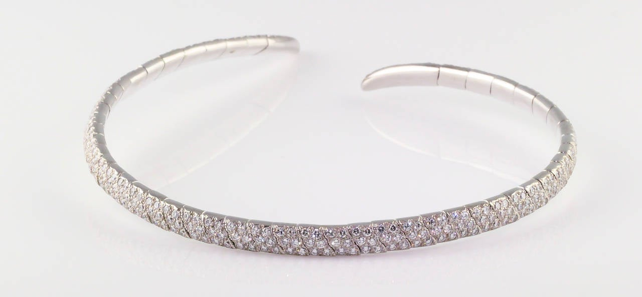 Boucheron Diamond and White Gold Necklace For Sale 2