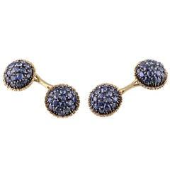 Mario Buccellati Sapphire Gold Cufflinks
