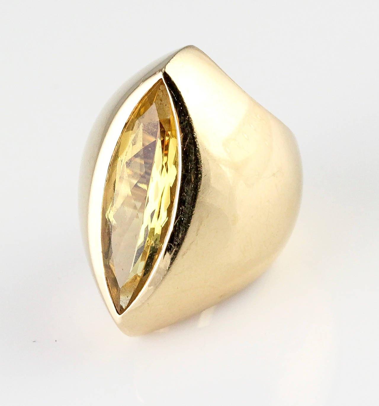 j frach beryl gold wide ring for sale at 1stdibs
