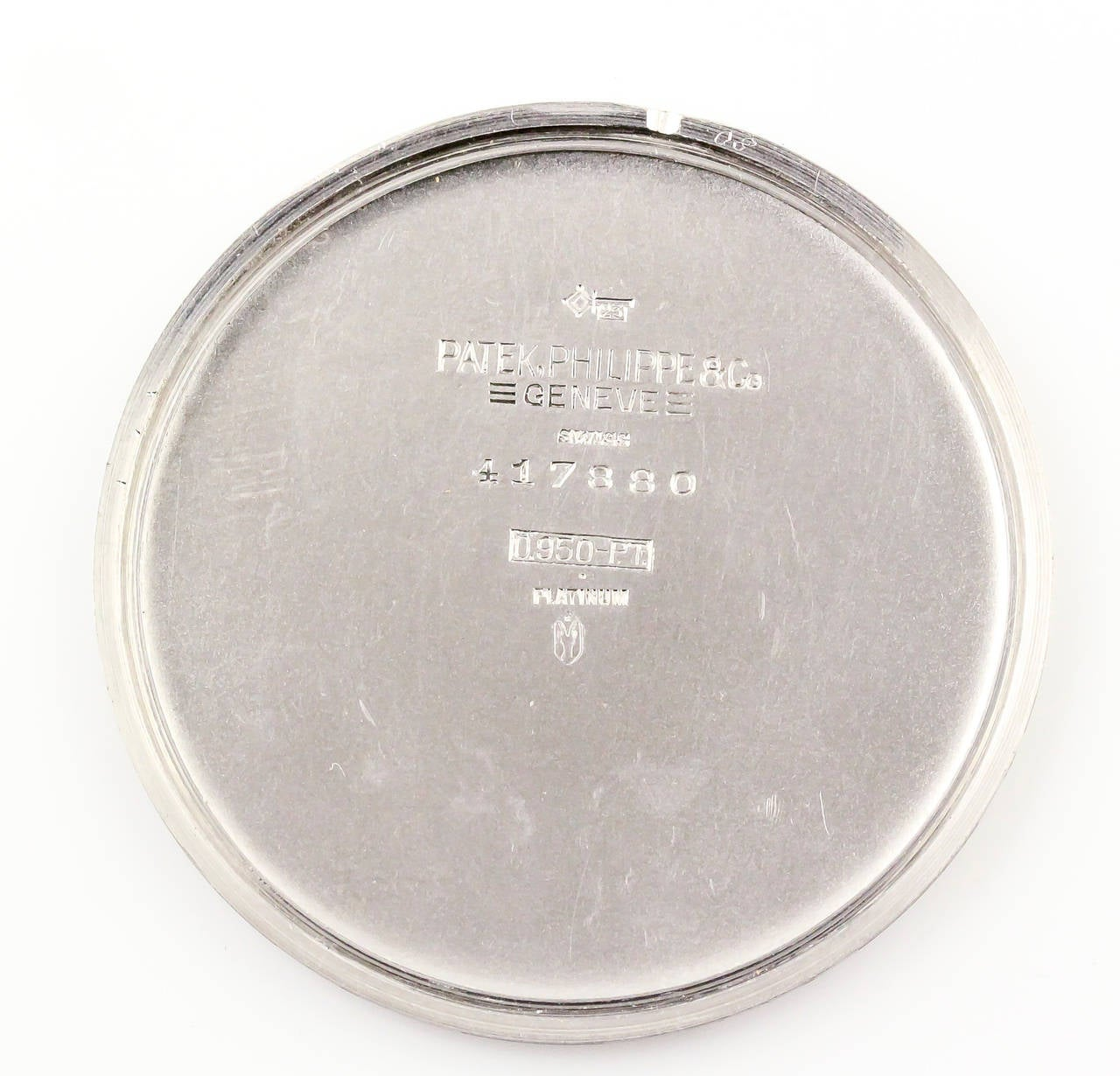 Patek Philippe Platinum Diamond Manual Pocket Watch Ref 600 In Excellent Condition For Sale In New York, NY