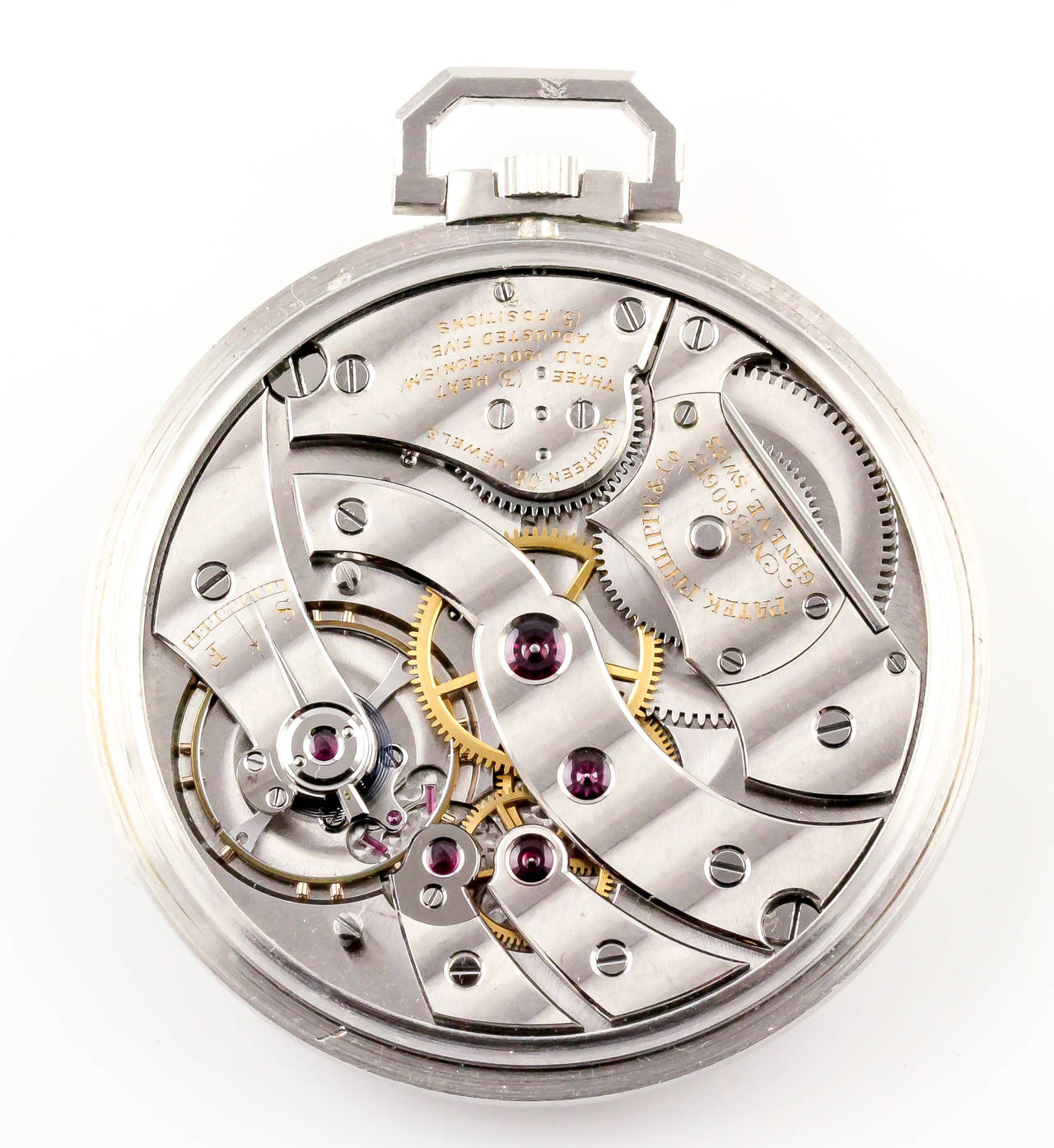 Women's or Men's Patek Philippe Platinum Diamond Manual Pocket Watch Ref 600 For Sale