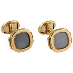 Patek Philippe & Co. Gold Nautilus Cufflinks
