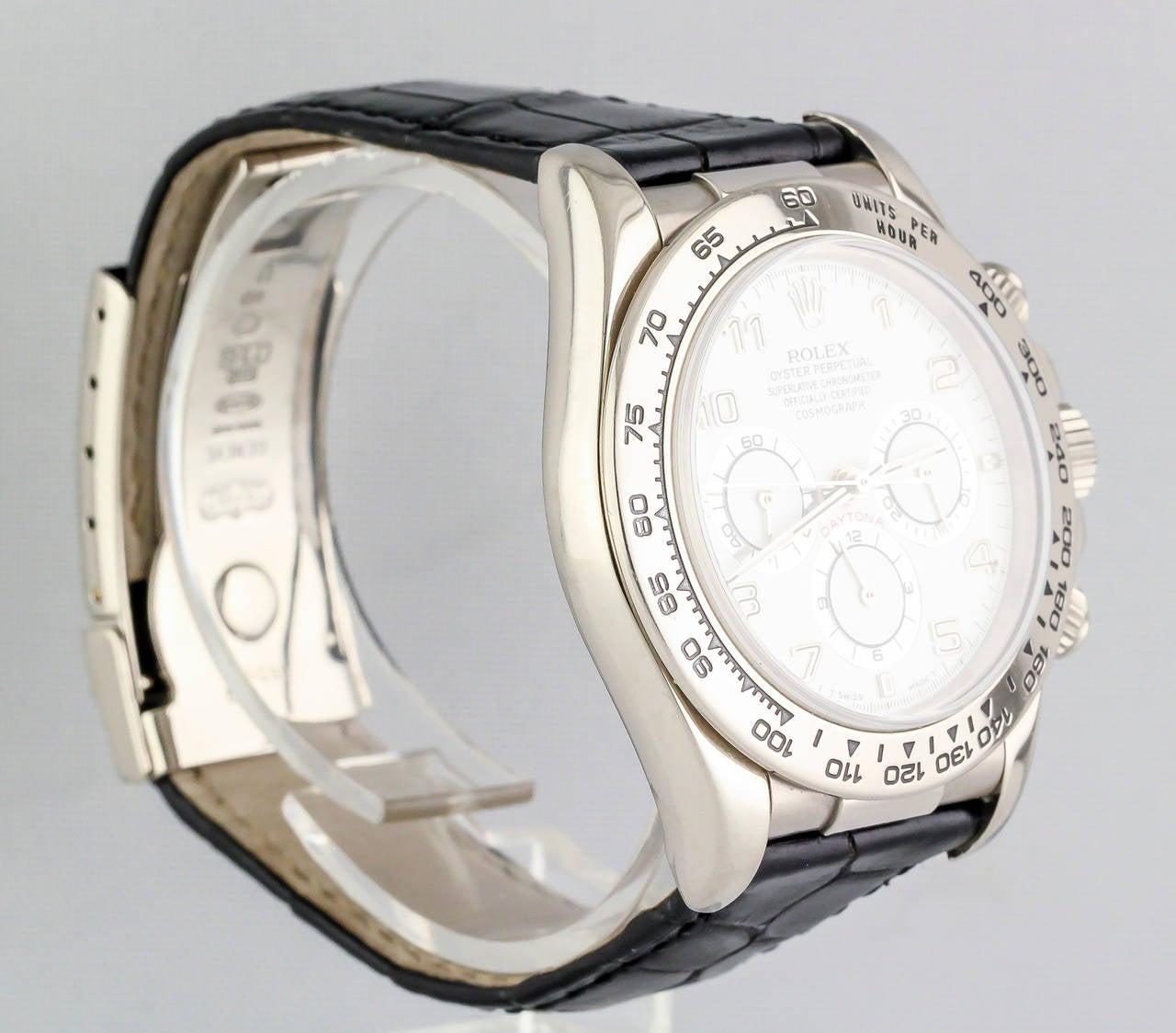 Rolex White Gold Daytona Chronograph Automatic Wristwatch 2