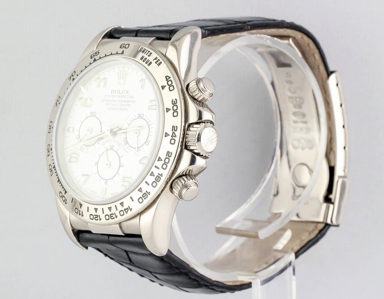 Rolex White Gold Daytona Chronograph Automatic Wristwatch 3