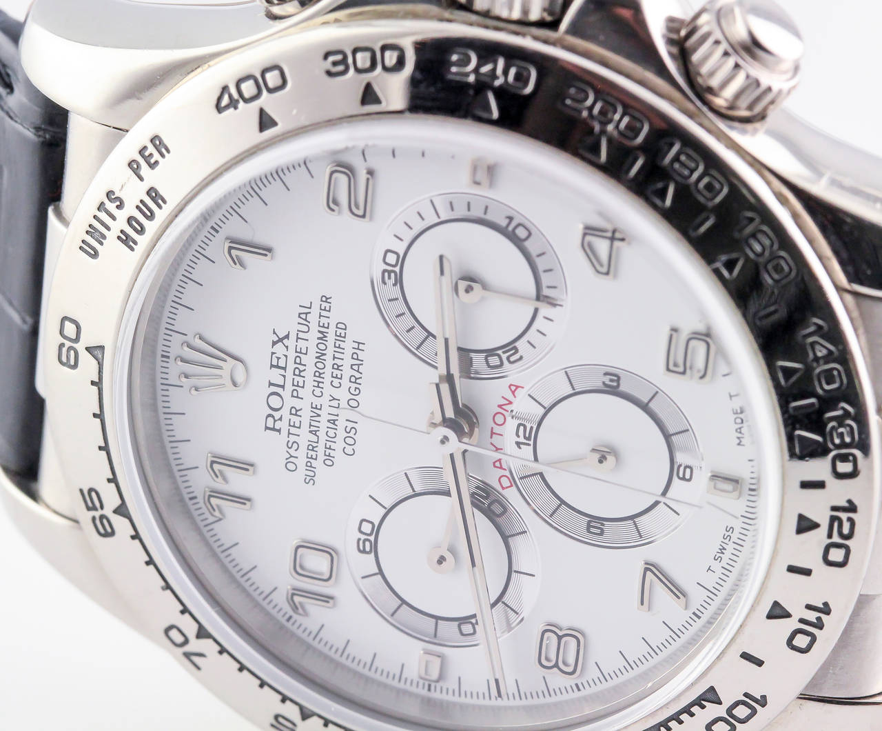Rolex White Gold Daytona Chronograph Automatic Wristwatch 5