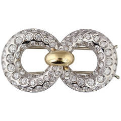 Harry Winston Diamond Gold Platinum Hair Barrette