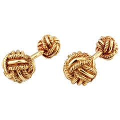 Tiffany & Co. Schlumberger Gold Knot Cufflinks