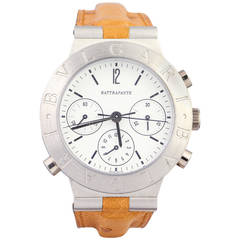 Bulgari Platinum Diagono Rattrapante Split Second Chronograph Wristwatch