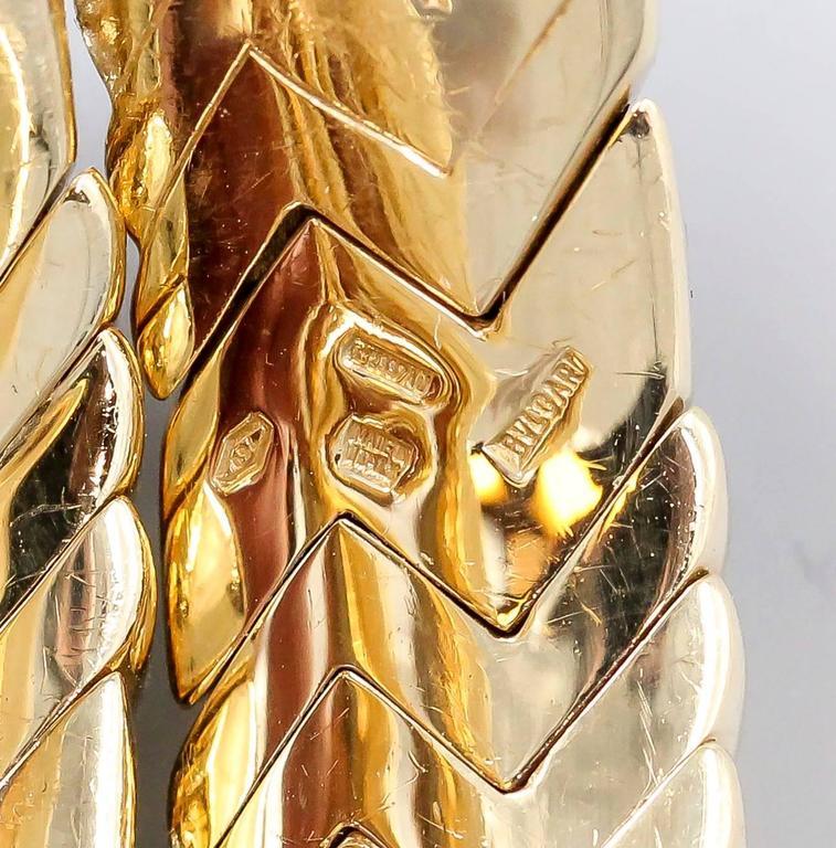 Bulgari Spiga Diamond Gold Snake Bracelet For Sale 1