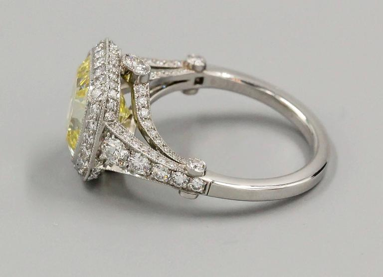 Tiffany & Co. Legacy Fancy Yellow Diamond Platinum Ring 3