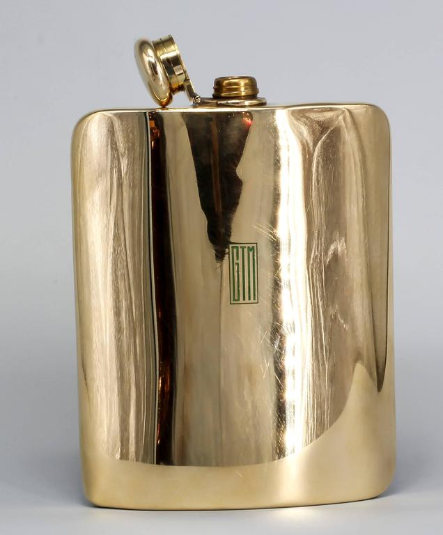 TIFFANY & CO. MAKERS Large Gold Flask 3