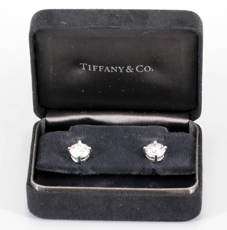 Tiffany & Co. E-VS1-VVS2 3xEX 4.63 carats Diamond Studs  2
