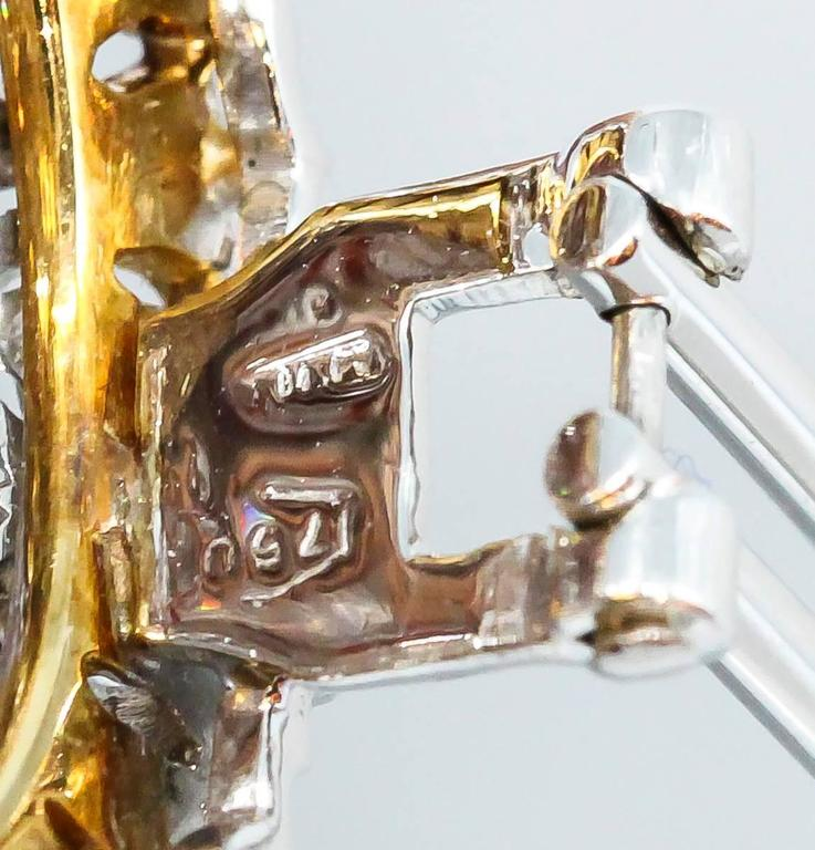 Buccellati Large Diamond Gold Dome Earrings For Sale 3