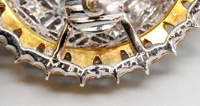 Buccellati Large Diamond Gold Dome Earrings For Sale 2