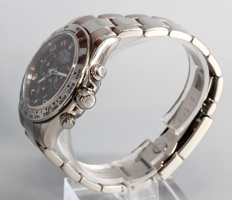 Rolex White Gold Cosmograph Daytona Z Series Black Dial Wristwatch 3
