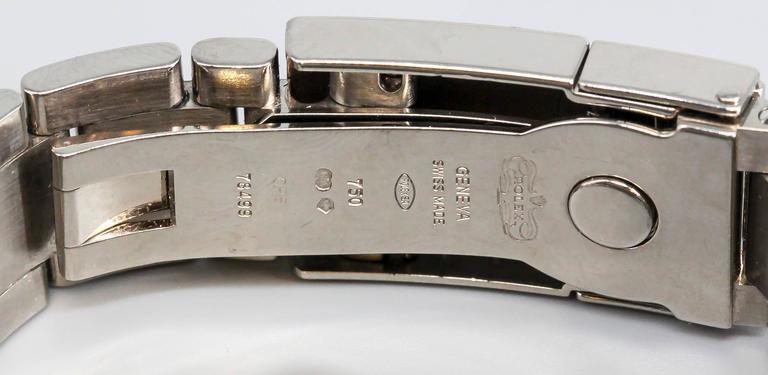 Rolex White Gold Cosmograph Daytona Z Series Black Dial Wristwatch 6
