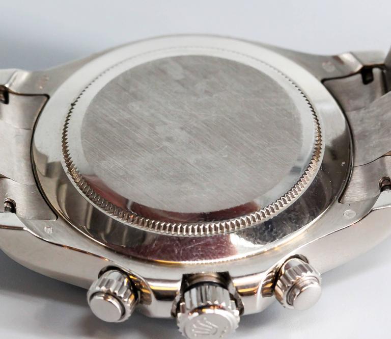 Rolex White Gold Cosmograph Daytona Z Series Black Dial Wristwatch 7