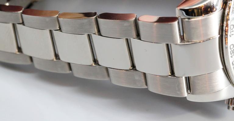 Rolex White Gold Cosmograph Daytona Z Series Black Dial Automatic Wristwatch 8