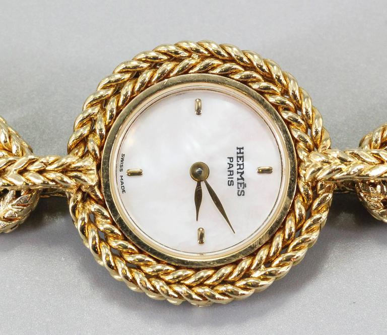 Hermes Ladies Yellow Gold Chaine D'Ancre Toggle Link Quartz Wristwatch 3