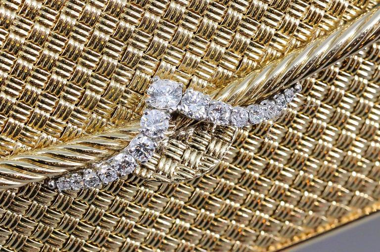 Van Cleef And Arpels Diamond Gold Purse Handbag For Sale