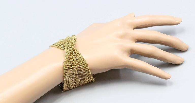 cd0140eb1 Chic 18K yellow gold mesh bracelet by Tiffany & Co. Elsa Peretti, circa  1980s