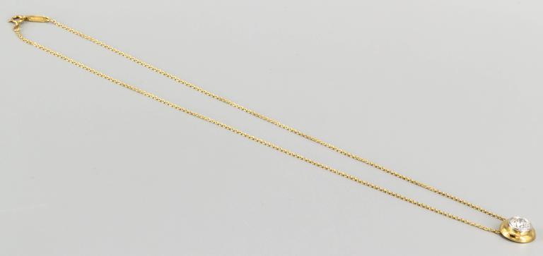 Tiffany & Co. Diamond Gold Platinum Pendant Chain Necklace 3