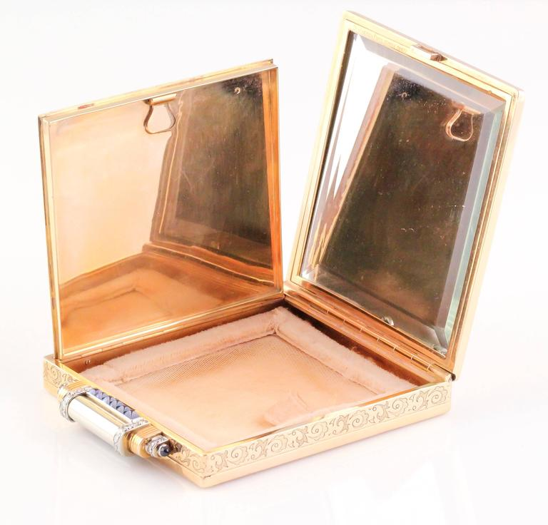 Boucheron Paris sapphire Diamond Gold Compact Case 4