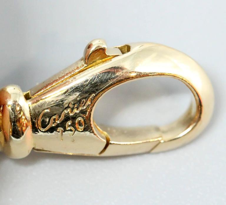 Cartier Ten-Charm Gold Bracelet For Sale 2