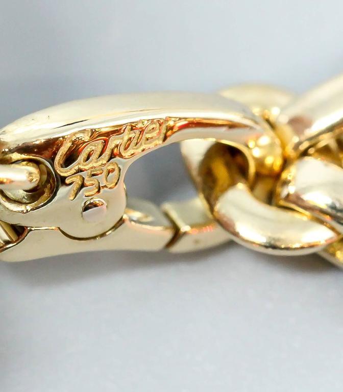 Cartier Ten-Charm Gold Bracelet For Sale 3