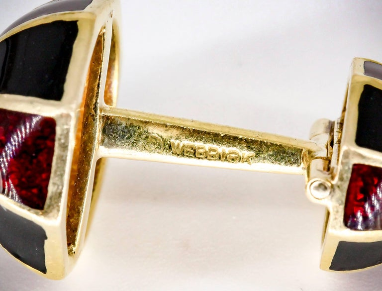 David Webb Enamel and Gold Cufflinks 4