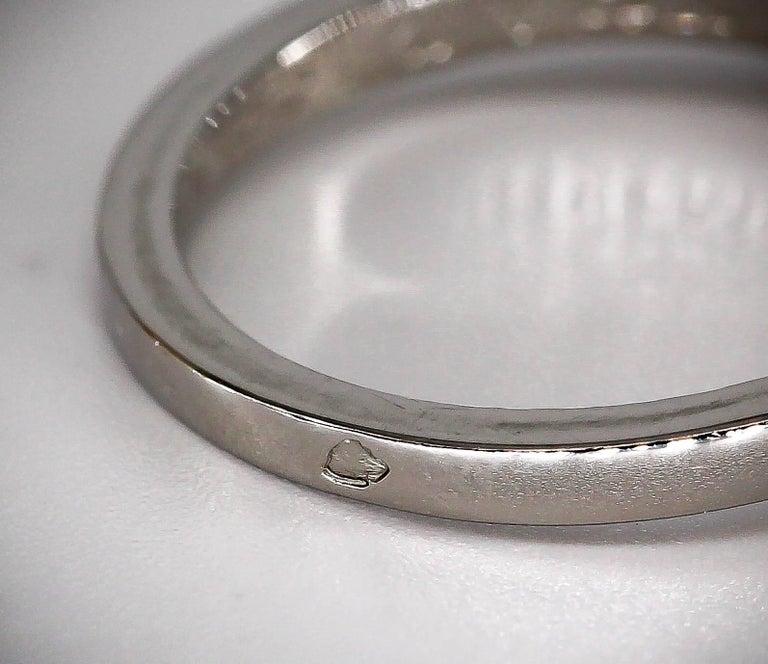 Cartier Ballerine Diamond Platinum Engagement Ring For Sale 1