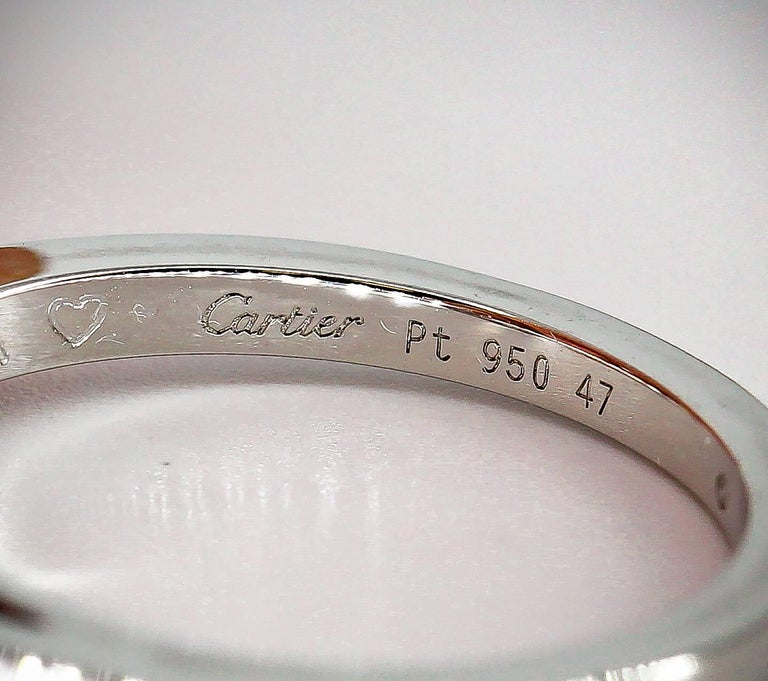 Cartier Ballerine Diamond Platinum Engagement Ring For Sale 2