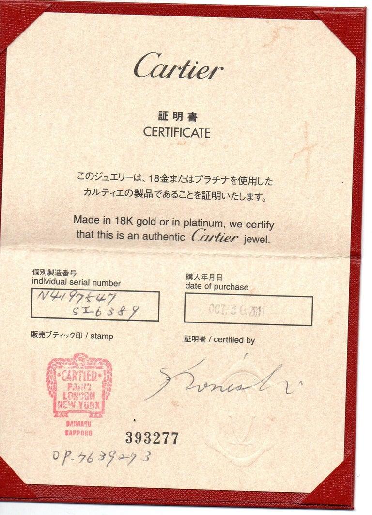 Cartier Ballerine Diamond Platinum Engagement Ring For Sale 6