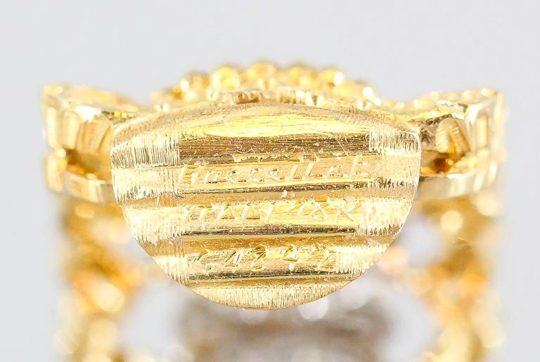 Buccellati Pave Diamond White and Yellow Gold Ear Clips For Sale 2