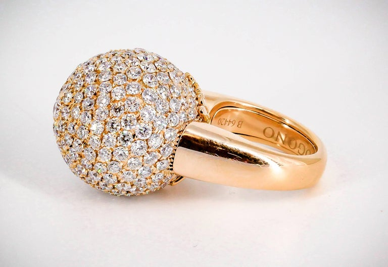 De Grisogono Diamond and Rose Gold Dome Ring 2