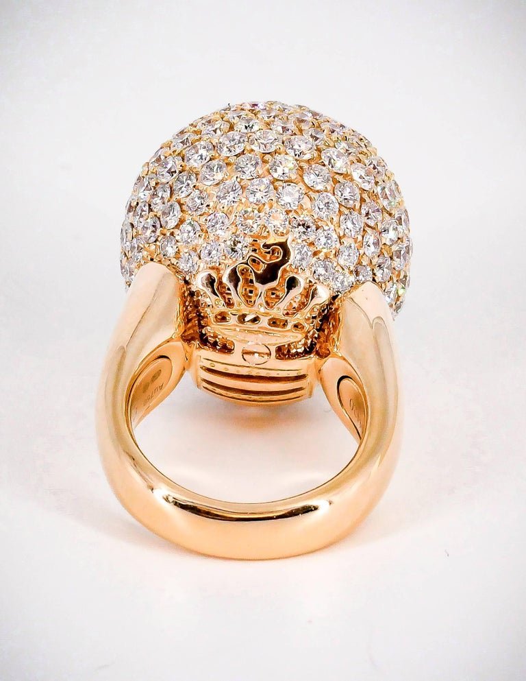 De Grisogono Diamond and Rose Gold Dome Ring 3