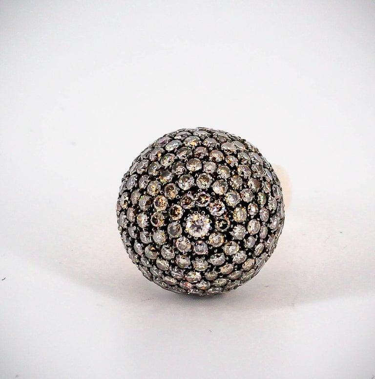 De Grisogono Colored Diamond and Rose Gold Dome Ring 2
