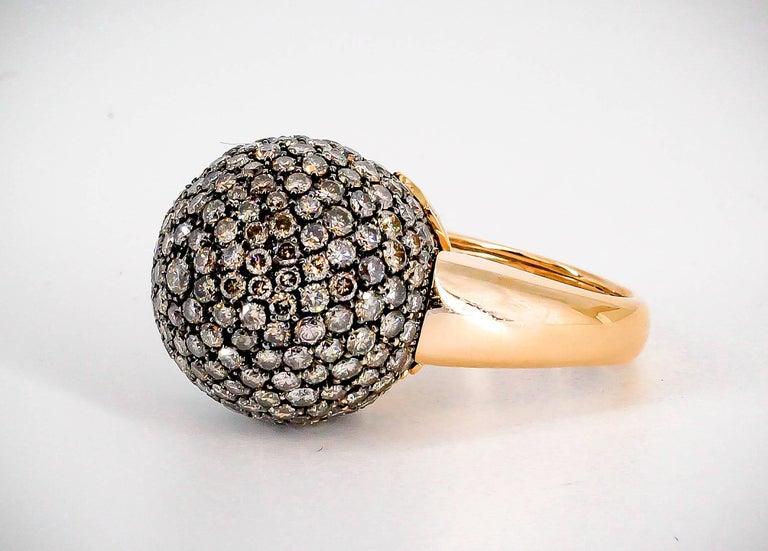 De Grisogono Colored Diamond and Rose Gold Dome Ring 3