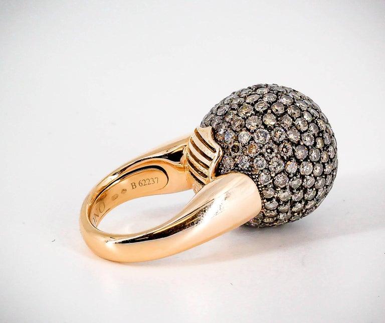 De Grisogono Colored Diamond and Rose Gold Dome Ring 4