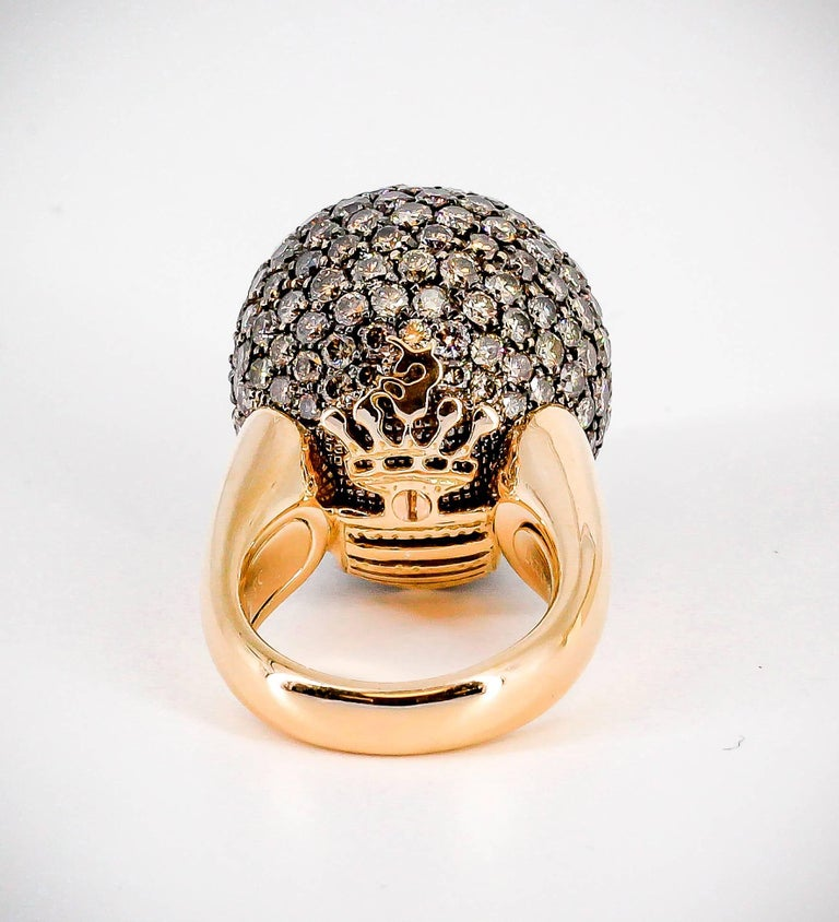 De Grisogono Colored Diamond and Rose Gold Dome Ring 5