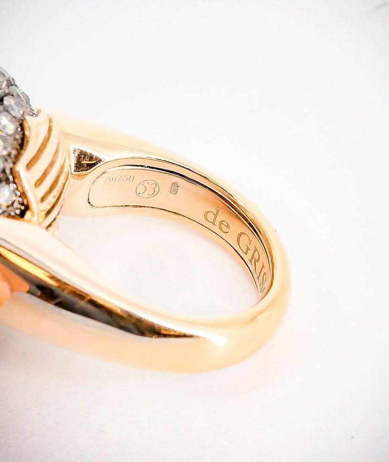 De Grisogono Colored Diamond and Rose Gold Dome Ring 7