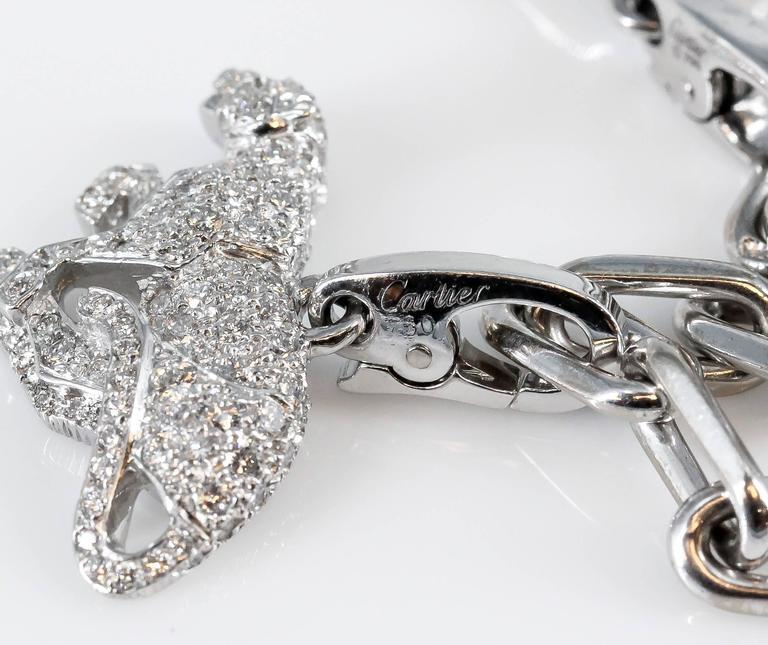 Cartier Diamond White Gold 9 Charm Bracelet 6