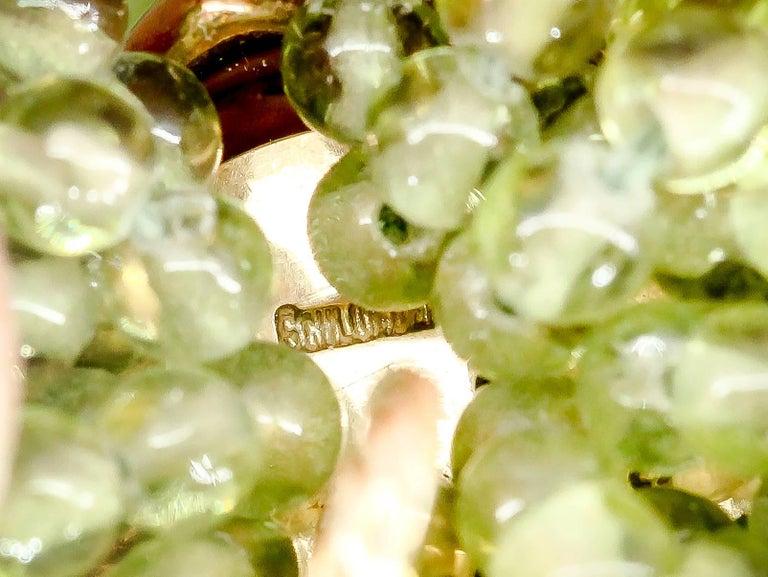 Tiffany & Co. Schlumberger Peridot Diamond Gold Necklace Bracelet Combination For Sale 2
