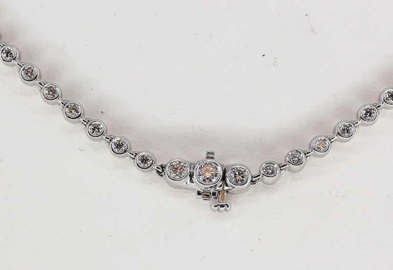 Tiffany & Co. Diamond and Platinum Necklace In Excellent Condition For Sale In New York, NY