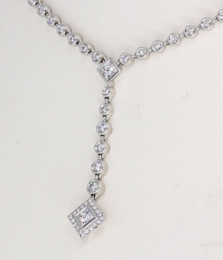 Women's Tiffany & Co. Diamond and Platinum Necklace For Sale